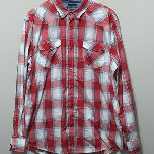 American Rag Western Style Pearl Snap Button Down